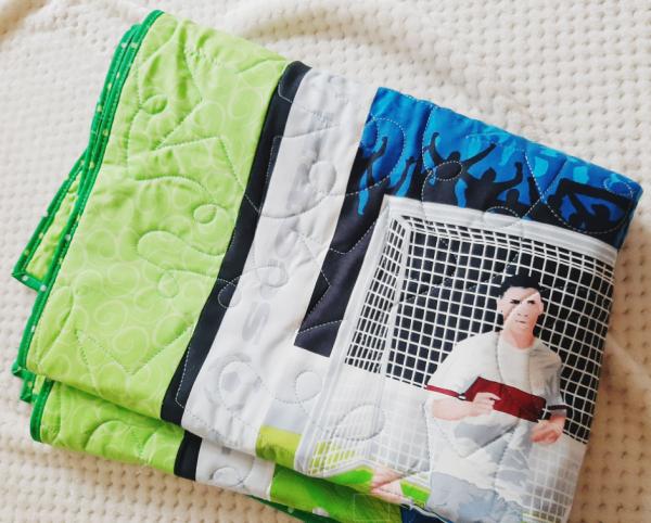Soccer Baby Quilt - football3