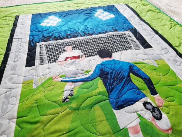 Soccer Baby Quilt - football5