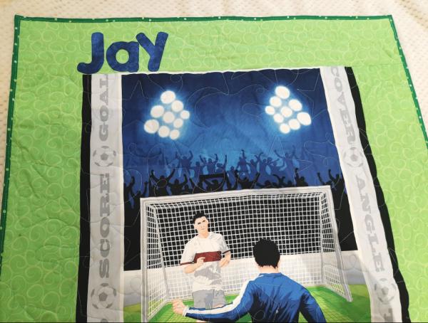 Soccer Baby Quilt - football6