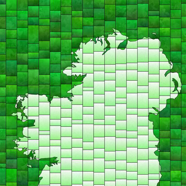 elevencorners personalised ireland map print