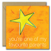 You're one of my favourite parents Fathers day card