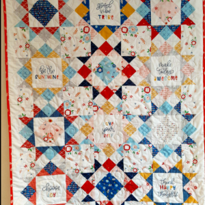Traditional Stars Yet Modern Styled Baby Quilt