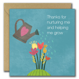 Thanks for helping me grow Teacher Card