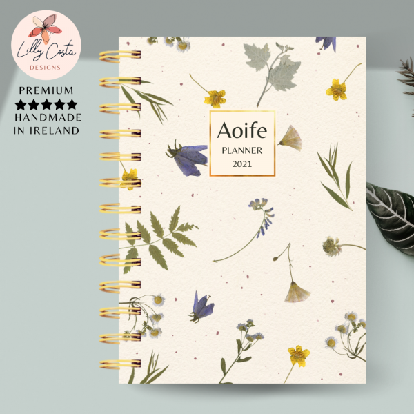 Floral Personalised Planner Diary Journal - 132