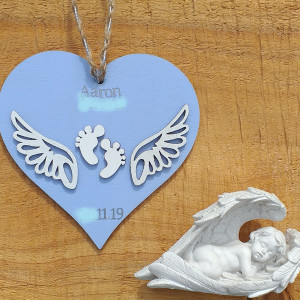 Angel Baby Heart Hanging Decoration