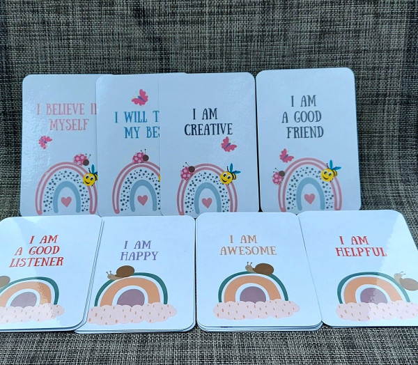 Daily Affirmation Cards for Girls 5-9years, 20 encouragement cards - 20210611 105022