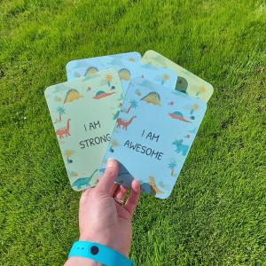 Dinosaur Kids Affirmations Cards