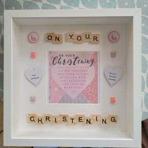 Girls Christening frame