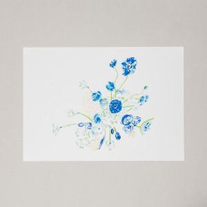 Blue Bouquet A3 Print