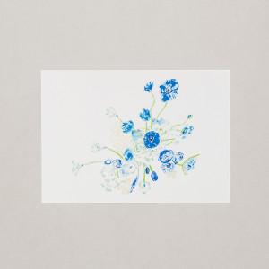 Blue Bouquet A4 Print