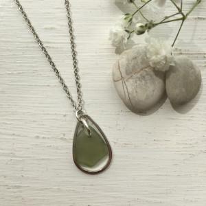 Pale Green Droplet Pendant