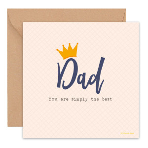 Simply The Best – Father's Day Card