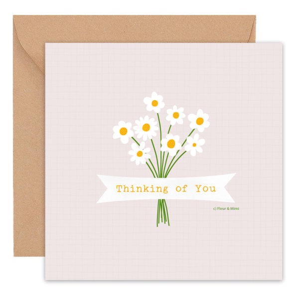 Thinking Of You -Daisies Greeting Card