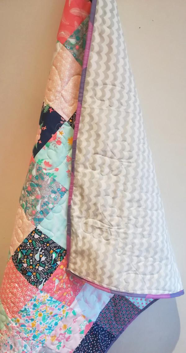 Miniature Florals Patchwork Quilt