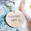 Barefoot Girl Keyring