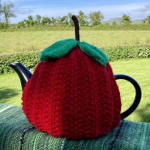 An Apple for the Teacher Knitted Tea Cosy