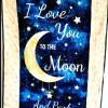 I love you to the moon and back baby quilt - moon1