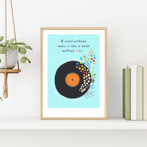 For Music Lovers - A4 Art Print