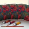 Set of 5 Poppy Notecards