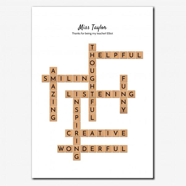 elevencorners teacher gift print