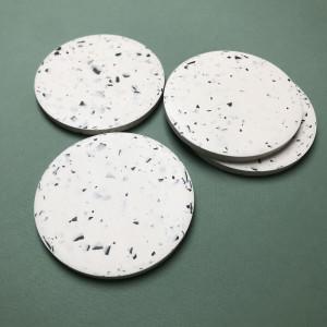 Monochrome White Coasters