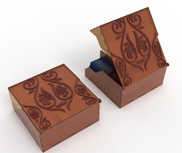Handmade Wooden Tea Bag Box - 11