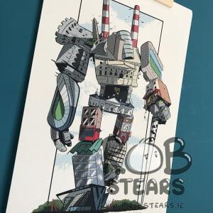 Dublin City Bot A4 Wall Print