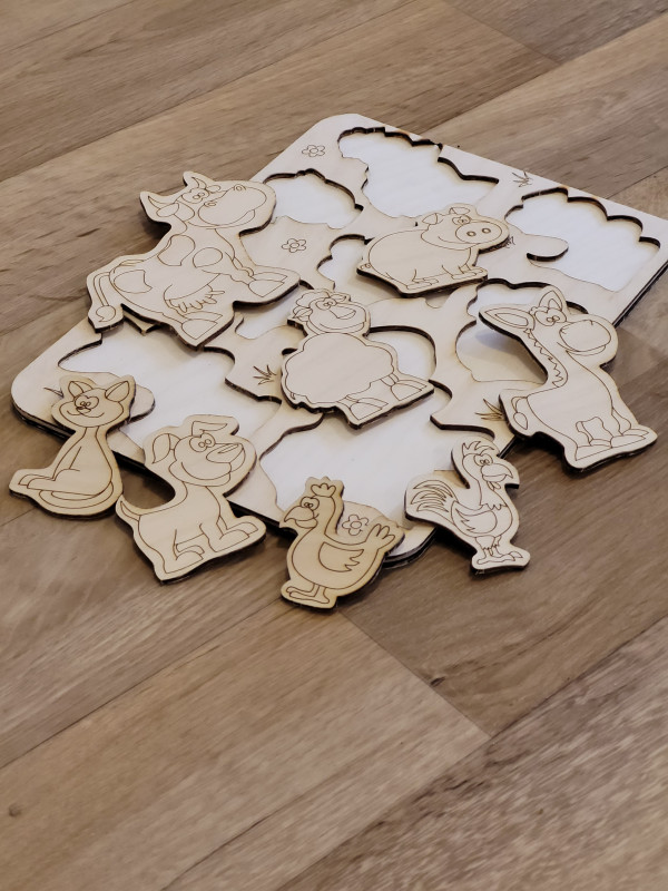 Selection of Handmade Wooden Puzzles for Toddlers - 20210520 201401 scaled