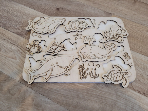 Selection of Handmade Wooden Puzzles for Toddlers - 20210529 183005 scaled