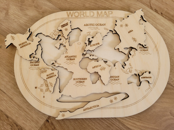 Wooden World Map Puzzle - 20210601 153341 scaled