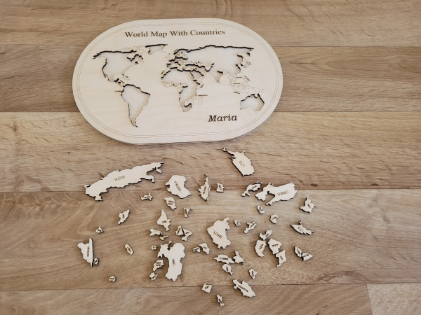 Wooden World Map With Countries Puzzle - 20210630 173105 scaled