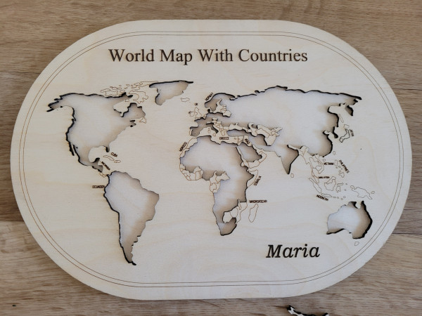 Wooden World Map With Countries Puzzle - 20210630 173111 scaled