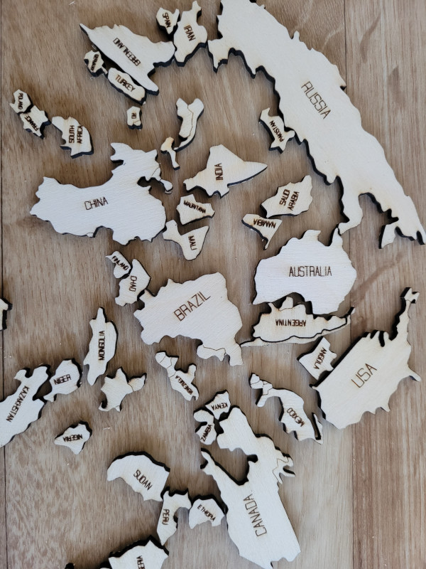 Wooden World Map With Countries Puzzle - 20210630 173127 scaled