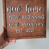 New Home Wooden Sign