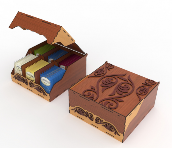 Handmade Wooden Tea Bag Box