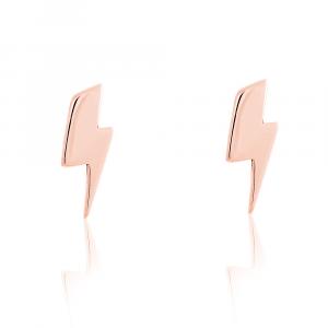 Bowie Bolt stud Earrings rose gold