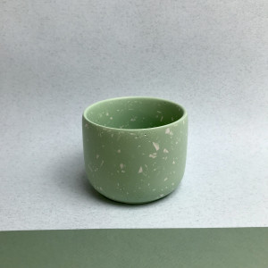 Green Terrazzo Plant Pot