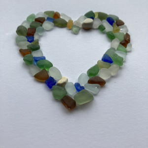 Seaglass Heart Anniversary Card