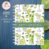 Lime Personalised Cocktail Recipe Book