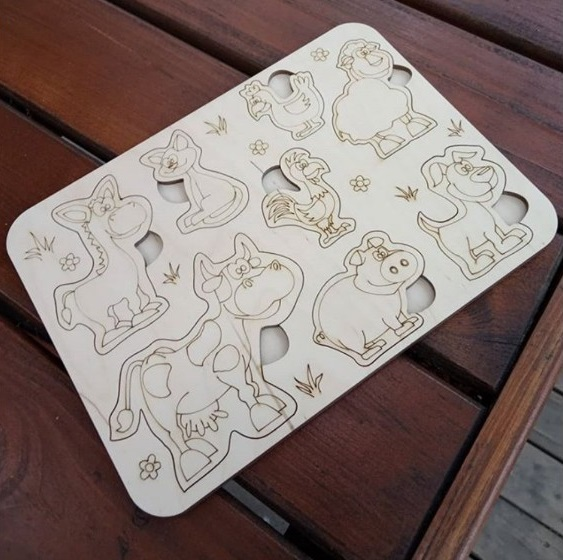 Selection of Handmade Wooden Puzzles for Toddlers - 6o3y33k7