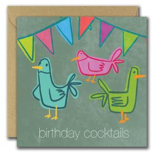 Birthday Cocktails Card