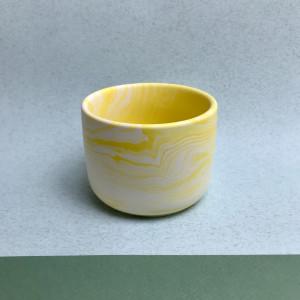 Yellow Marble Plant Pot