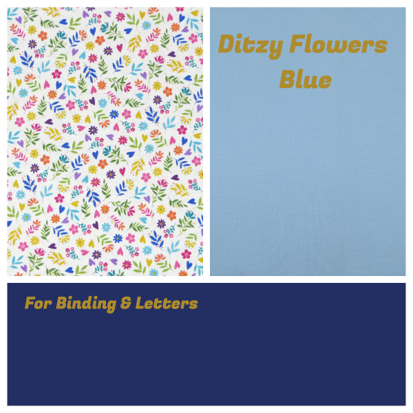 Personalised Name Bunting - Ditzy Flowers Blue
