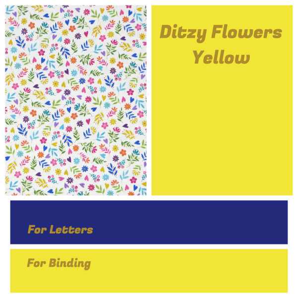 Personalised Name Bunting - Ditzy Flowers Yellow