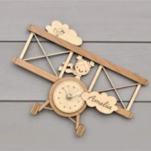 Wooden Ecofriendly Personalised Kids Wall Clock