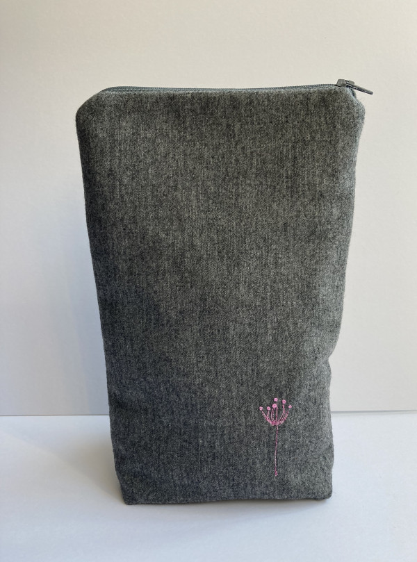 Grey Wool Zipped Pouch (Pink) - FF874A59 309F 49B5 97AA 44BE00EC038A 1 201 a scaled