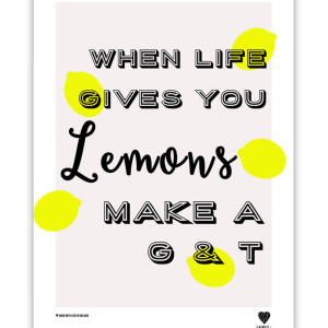When Life Gives You Lemons Wall Print