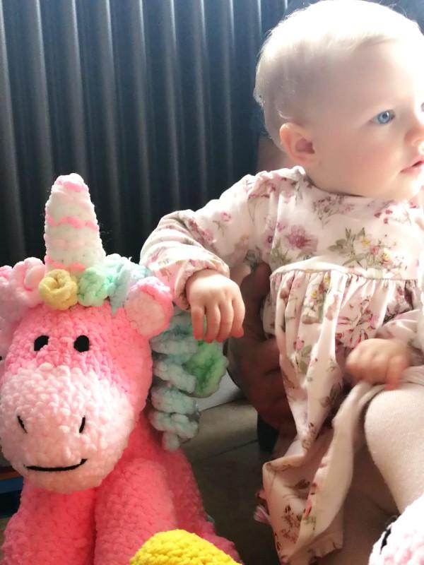 Pink Unicorn Soft Toy Baby Gift - IMG 20210528 WA00591623967837231