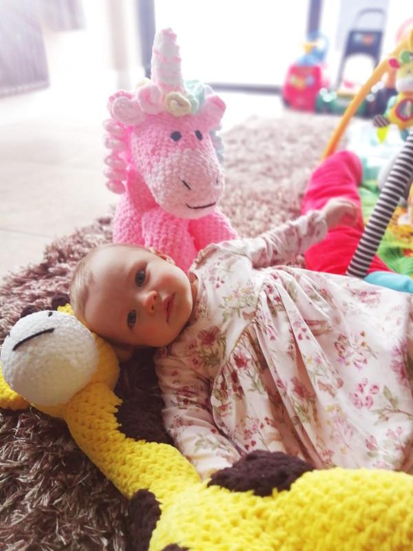 Pink Unicorn Soft Toy Baby Gift - IMG 20210528 WA00641623967837232