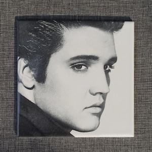 Elvis Presley Engraved on Ceramic Tile